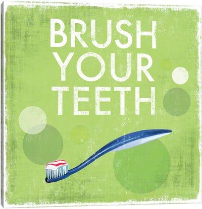 Brush Your Teeth Canvas Art Print