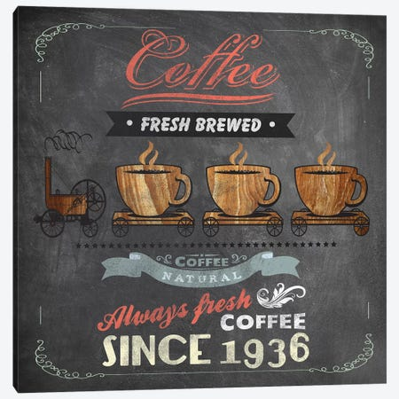 Coffee Board II Canvas Print #DKO6} by Drako Fontaine Canvas Print