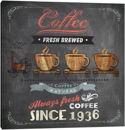 Coffee Board II Canvas Art Print