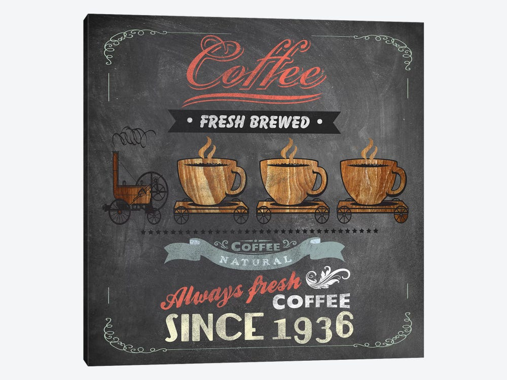 Coffee Board II by Drako Fontaine 1-piece Canvas Print