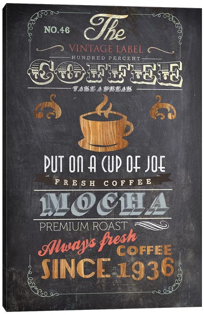 Coffee Menu I Canvas Art Print