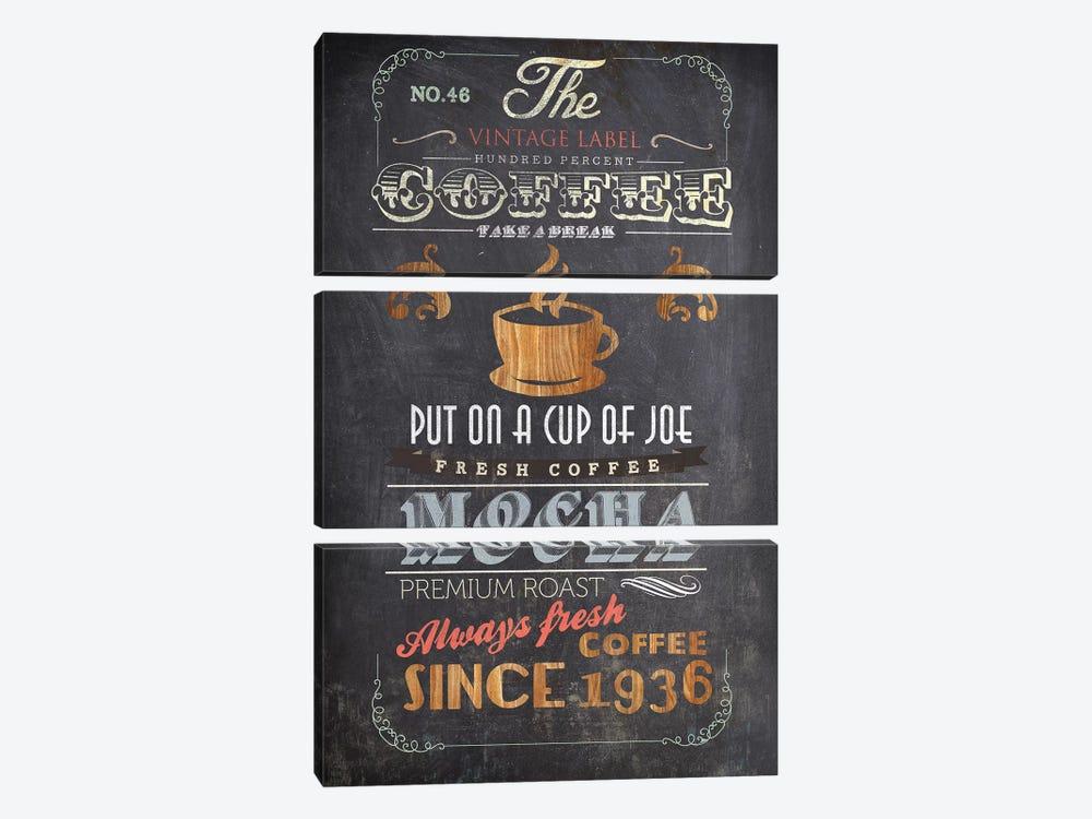 Coffee Menu I by Drako Fontaine 3-piece Canvas Wall Art