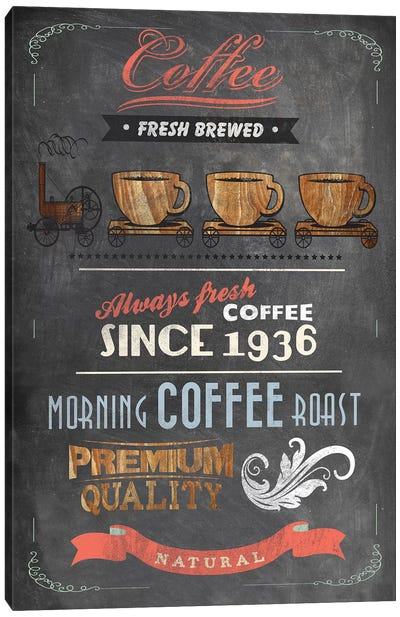 Coffee Menu II Canvas Art Print