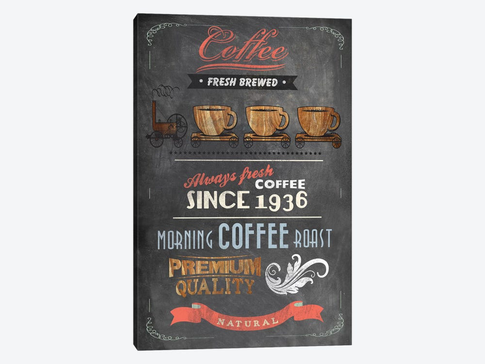Coffee Menu II by Drako Fontaine 1-piece Art Print