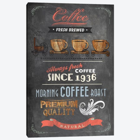 Coffee Menu II Canvas Print #DKO8} by Drako Fontaine Canvas Artwork