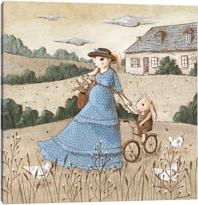 Summer In The Village Canvas Art Print