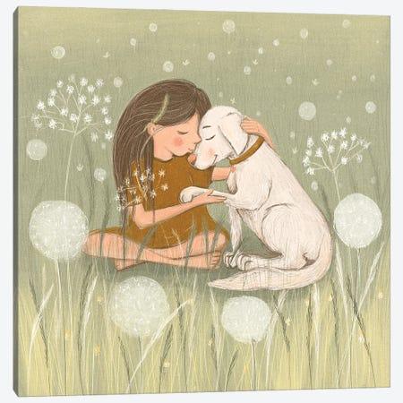 Best Friends Canvas Print #DKR4} by Dasha Kryukova Canvas Print