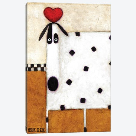 Love Dog Canvas Print #DKS14} by Daniel Patrick Kessler Canvas Art Print