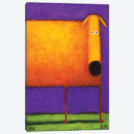 Orange Dog I Canvas Print #DKS16} by Daniel Patrick Kessler Canvas Print