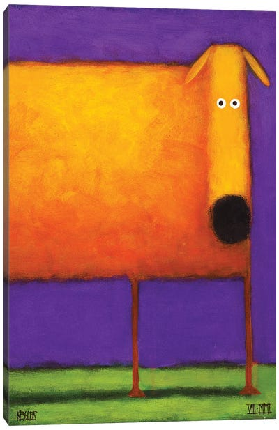 Orange Dog I Canvas Art Print