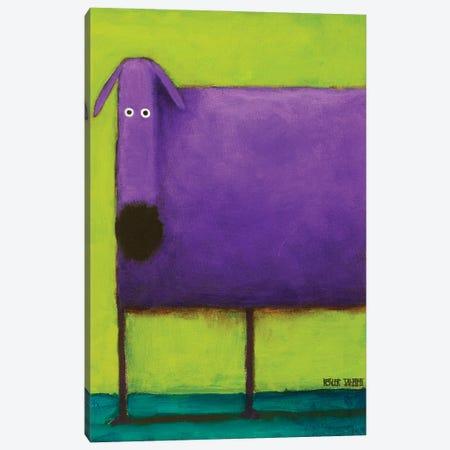 Purple Dog I Canvas Print #DKS17} by Daniel Patrick Kessler Canvas Art Print