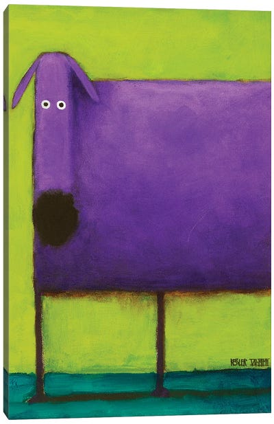 Purple Dog I Canvas Art Print