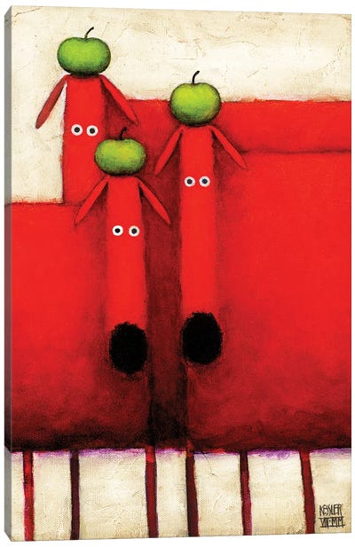 Tres Amigos Art Canvas Art Print