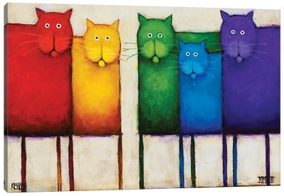 Rainbow Cats Canvas Art Print
