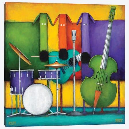 Jam Dogs II Canvas Print #DKS25} by Daniel Patrick Kessler Canvas Wall Art