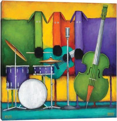 Jam Dogs II Canvas Art Print