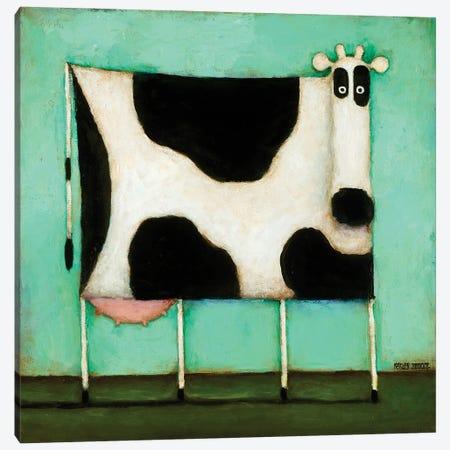 Turquoise Cow Canvas Print #DKS28} by Daniel Patrick Kessler Art Print