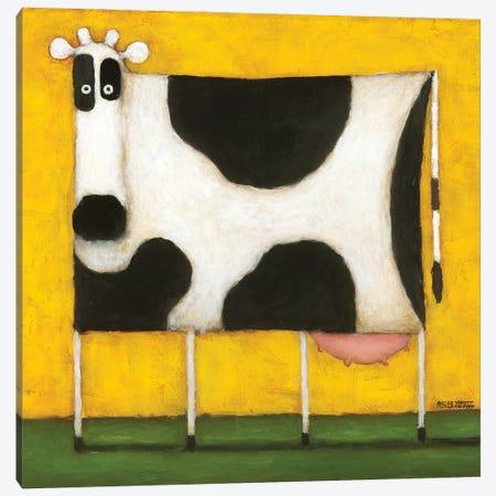 Yellow Cow Canvas Print #DKS29} by Daniel Patrick Kessler Art Print