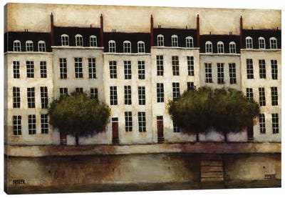 Paris on the Seine Canvas Art Print
