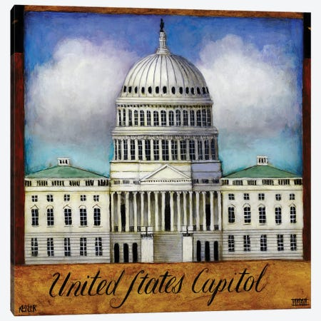The Capitol Canvas Print #DKS32} by Daniel Patrick Kessler Canvas Wall Art