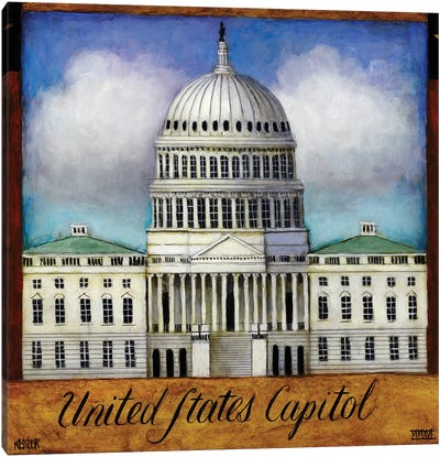 The Capitol Canvas Art Print