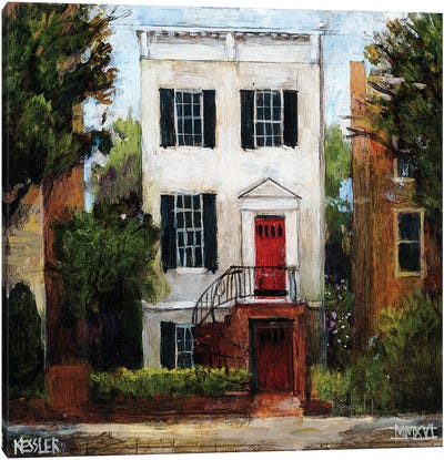 The Sousa House, Capitol Hill Canvas Art Print