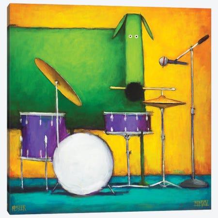Drum Dog Canvas Print #DKS34} by Daniel Patrick Kessler Art Print