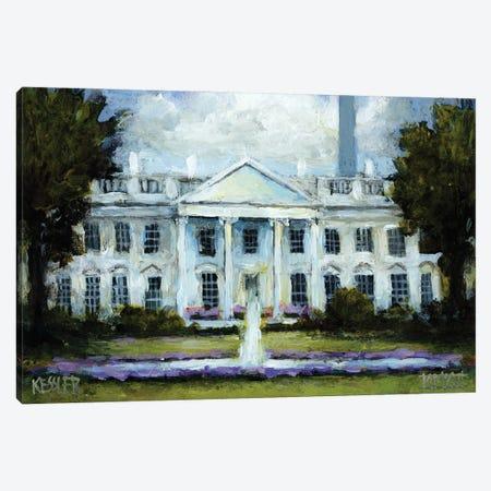 The White House Canvas Print #DKS45} by Daniel Patrick Kessler Canvas Wall Art