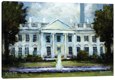 The White House Canvas Art Print