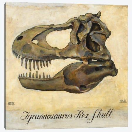 Tyrannosaurus Rex Skull Canvas Print #DKS46} by Daniel Patrick Kessler Canvas Wall Art