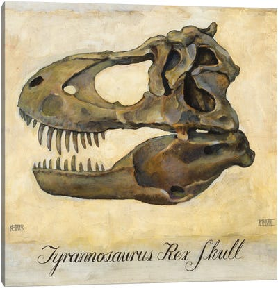 Tyrannosaurus Rex Skull Canvas Art Print