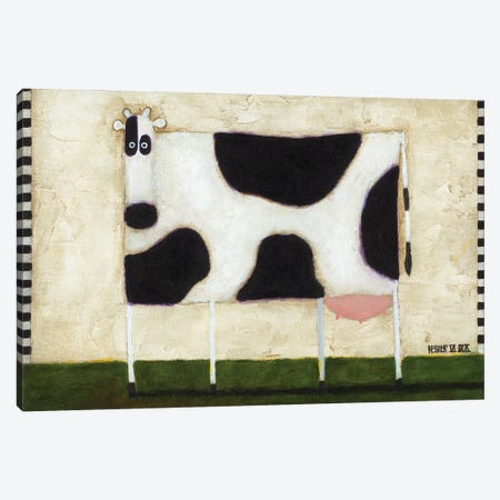 White Cow Canvas Print #DKS47} by Daniel Patrick Kessler Canvas Artwork