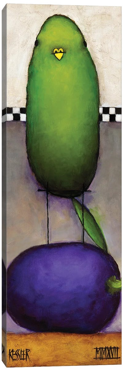 Eggplant Bird Canvas Art Print