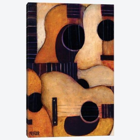 Guitars Canvas Print #DKS49} by Daniel Patrick Kessler Canvas Art Print
