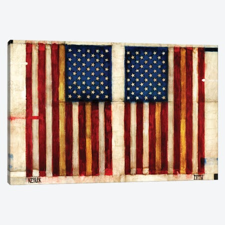Flag Day Canvas Print #DKS51} by Daniel Patrick Kessler Canvas Artwork