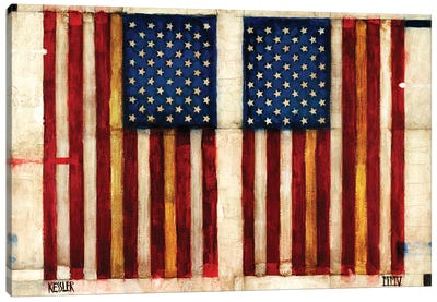Flag Day Canvas Art Print