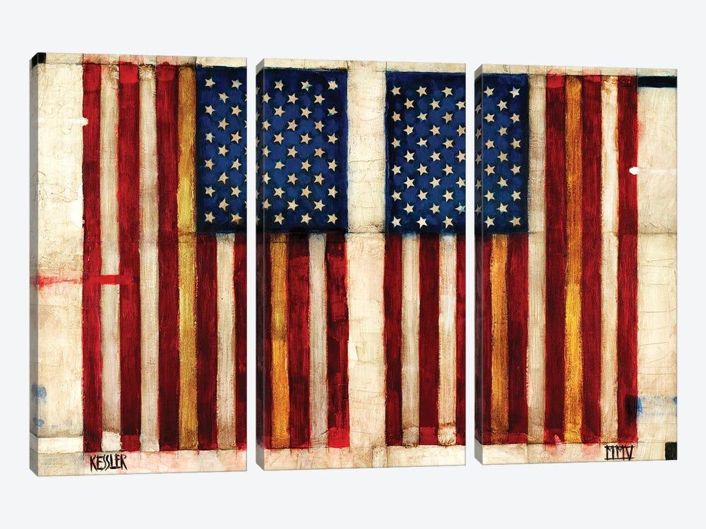 Flag Day by Daniel Patrick Kessler 3-piece Canvas Art Print