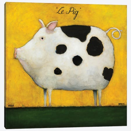 Le Pig I Canvas Print #DKS52} by Daniel Patrick Kessler Canvas Art