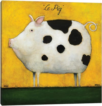 Le Pig I Canvas Art Print