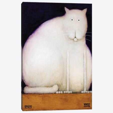 Fat Cat Canvas Print #DKS8} by Daniel Patrick Kessler Canvas Art Print