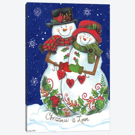 Snow Couple Canvas Print #DKT10} by Diane Kater Art Print