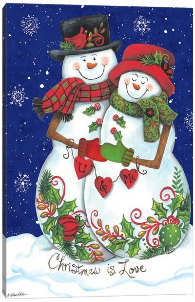 Snow Couple Canvas Art Print