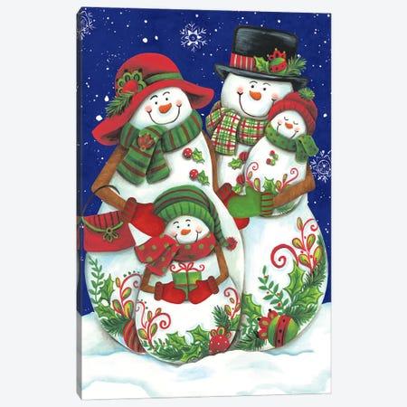 Snow Family I Canvas Print #DKT11} by Diane Kater Art Print
