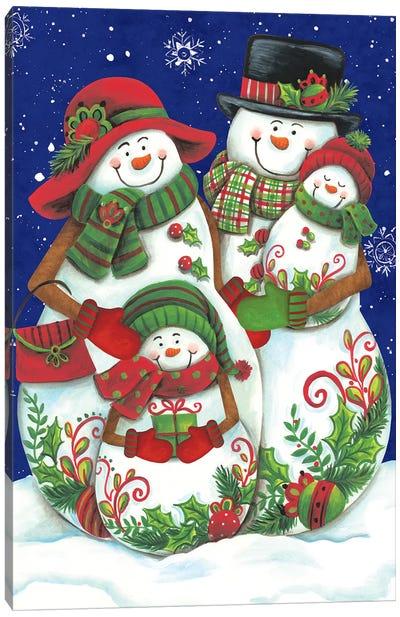Snow Family I Canvas Art Print