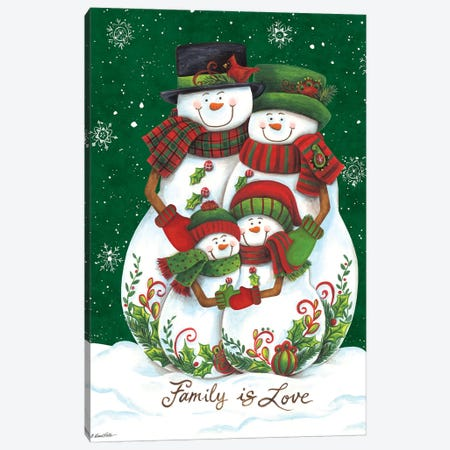 Snow Family II Canvas Print #DKT12} by Diane Kater Canvas Print