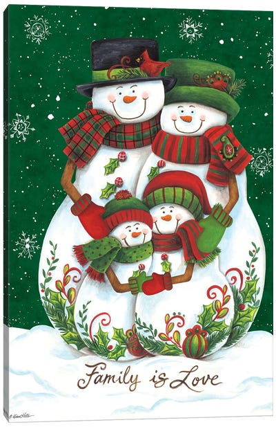 Snow Family II Canvas Art Print