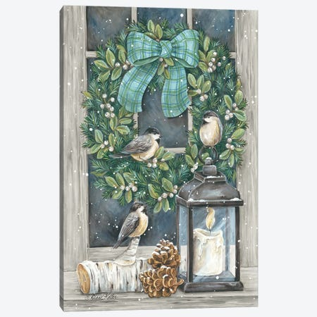 Winter Wreath Canvas Print #DKT23} by Diane Kater Canvas Wall Art