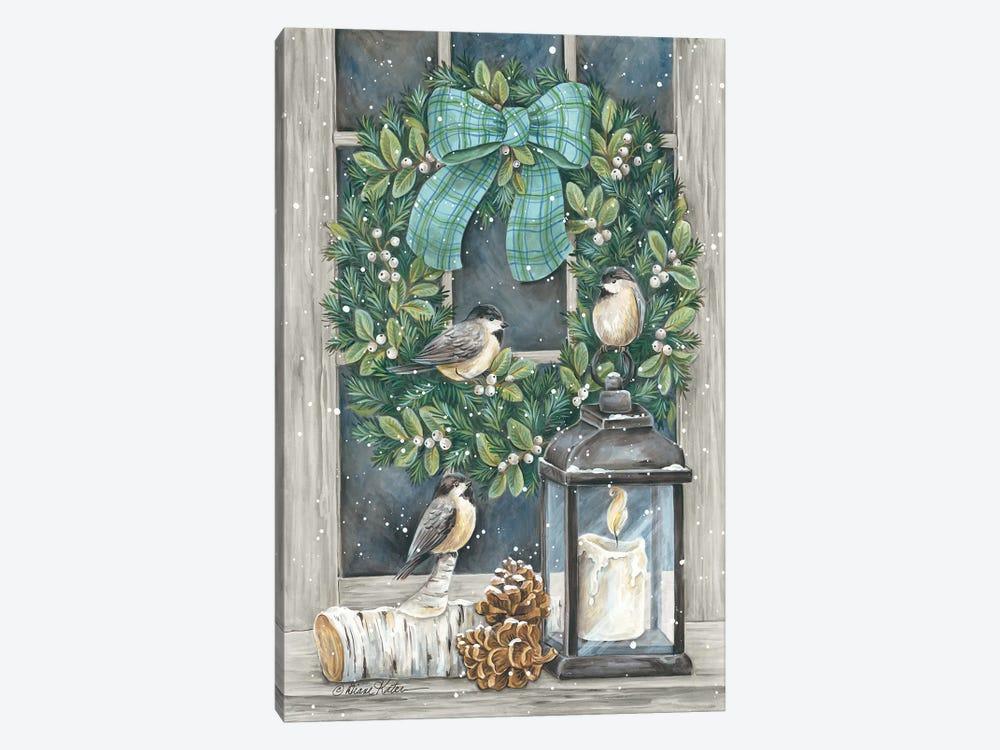 Winter Wreath by Diane Kater 1-piece Canvas Art Print