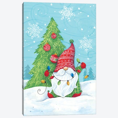 Elf Gnome With Lights Canvas Print #DKT27} by Diane Kater Canvas Print