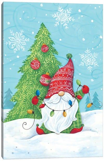 Elf Gnome With Lights Canvas Art Print